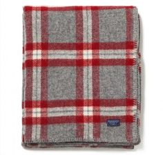 W's room colors.  For your Preppy Pal: Soho Plaid Throw by Fairbault Woolen Mills