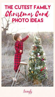 Christmas card photo ideas for the whole family.