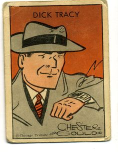 TRADING CARD DICK TRACY TIPTOP DICK WATCH