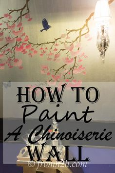 How to recreate the look of expensive Chinoiserie wallpaper on a budget...with paint and a stencil.