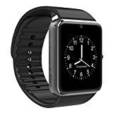 #9: CHEREEKI Bluetooth Smart Watch Handy-Uhr Mit Kamera SIM / TF Card Slot Pedometer Touch Screen Smartwatch Armbanduhr Watch Phone für…