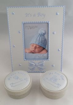 Baby Boy Keepsake Frame and Boxes Christening, Picture Frames, New Baby Products, Birth, Baby Boy, Boxes, Joy, Cards, Portrait Frames