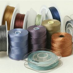 ❥ Stitchionary ~ A guide to threads and cords for jewelry making. #Beading #Jewelry #Tutorials