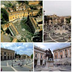 La Plaza del Campidoglio o Plaza del Capitolio está situada en la cima de la Colina Capitolina y es la primera plaza moderna que se diseñó en Roma.