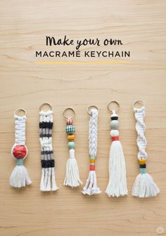 Free instructions: DIY Tassel and Macramé keychains - Think.Make.Share.