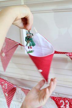 Christmas Pennant Advent Calendar. Handmade by Peppermint Pinwheels. $135.00, via Etsy.