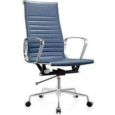 Modern High Back Blue Leather Office Chair/office executive chairs / high back leather office chair / ergonomic office chair, office furniture manufacturer  http://www.moderndeskchair.com//leather_office_chair/high_back_leather_office_chai/Modern_High_Back_Blue_Leather_Office_Chair_office_executive_chairs_111.html