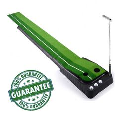This 100% brand new and high quality indoor golf practice putting training mat by Kungix features a durable deisgn, automatic ball return and is easy to fold and unfold