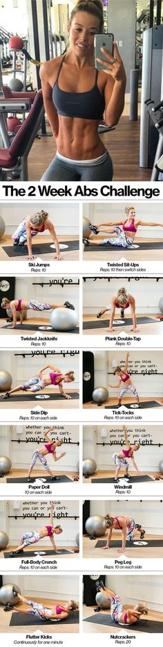 Killer abs exercises to tone your tummy and help you lose your love handles. Tiny Waist Workout, Six Pack Abs Workout, Best Ab Workout, Abs Workout For Women, Ab Workout At Home, Ab Workouts, Exercises, Hiit Abs, Intense Ab Workout