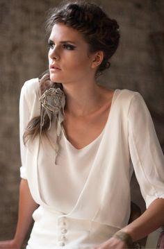 Robe de mariee Orlane Herbin creatrice 2014 gilet Jim top Lili jupe Beth - La Fiancee du Panda Blog mariage