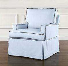 Glider from Restoration Hardware track arm swivel glider
