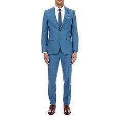 Burton 3 piece deep blue slim fit suit- | Debenhams Blue Slim Fit Suit, Fitted Suit, Debenhams, Deep Blue, 3 Piece, Breast, Suit Jacket, Suits, Fitness
