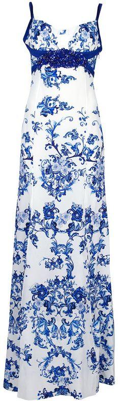 Roberto Cavalli White Printed Maxi Dress http://www.lyst.com/clothing/roberto-cavalli-printed-maxi-dress-white/