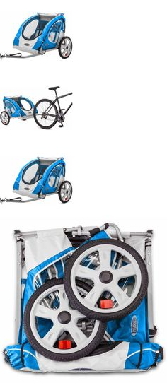Trailers 85040: Bike Trailer Berry 2 Seat Child Bicycle Carrier Cart Folding Stroller BUY IT NOW ONLY: $95.52