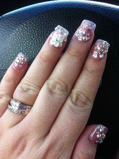 Blingy nails | Nail Art | Pinterest