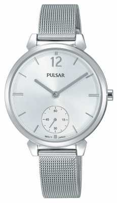 Pulsar Womans Stainless Steel Mesh Bracelet Silver Dial PN4053X1