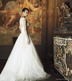 alberta ferretti bridal 2013 wedding dress sleeveless ball gown side view
