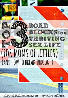 Top 3 Roadblocks to a Thriving Sex Life (for moms of littles) (and how to break through), from @pearloysterbed7