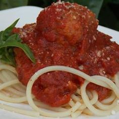 Megan's Amazing Spaghetti and Meatballs