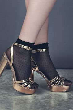 These Gold Metallic Strappy Ankle Strap Heels give us Saturday Night Fever. #newlook #shoes