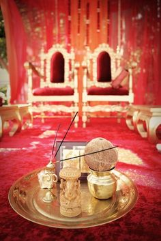 red decor for Indian Ritual