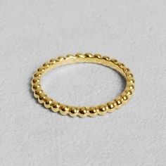 Petit Sesame | Gold-plated pepites ring | Designed by Petit sesame | $12.00 | 18k gold plated 925 sterling silver adorned with nuggets