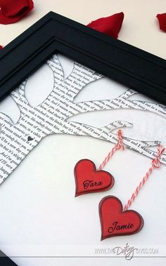 Such a fun way to display your love song and a great personalized gift.