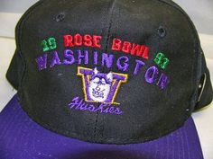 new styles 10f85 76c91 Sports Collectibles Make Great Gifts! Rose Bowl U of Washington Huskies  1993 Hat and Pin