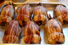 partridges wrapped in bacon - an alternative to turkey at christmas