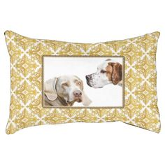 Weimaraner and pointer photo dog bed. Fully personalizable.