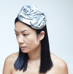 Silver Leather Hat by chuchuny