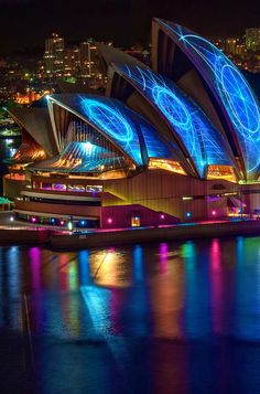 Sydney is the beautiful backdrop to the much-loved winter festival of lights, music and ideas, Vivid Sydney. Photo by Jason James.