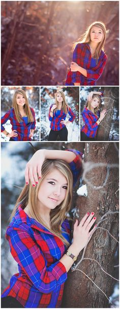 Erin Kata Photography. Senior poses in snow. Senior Girl. High School Senior. Senior Picture. Wichita Kansas Senior Photographer. Senior Photography. Senior Portraits.