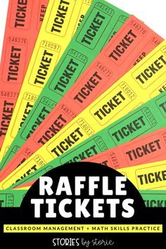 Raffle tickets are a great way to practice math skills in the classroom, but did you know they can be a great management tool, too? Learn how I have used math tickets in my 2nd and 3rd grade classroom.