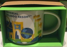 Starbucks You Are Here Collection Ceramic Mug Universal Studios Orlando New with Box