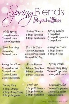 Spring Diffuser Recipes for Essential Oils