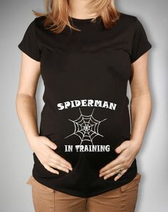 Spiderman In Training Maternity T Shirt