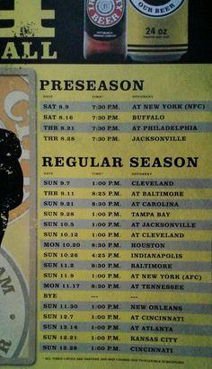 Pittsburgh Steelers  NFL 2014  Schedule 36 X 24  Poster Iron City Beer Man Cave #PittsburghSteelersIronCityBeer #PittsburghSteelers