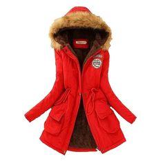 32.63$  Buy here - http://aivp5.worlditems.win/all/product.php?id=32673098991 - Korea 2016 Winter Latest Fashion Women Coat Loose Big Yards Leisure Hooded Collars Keep Warm Long Sleeve Women Coat G0812