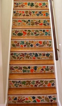 22 Amazing Chic Stair Design Ideas In Natural Coloured With Beautiful Art