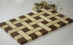 Woven Ash, Purple Heart, and Wenge Cutting Board - by Duckarrowtypes @ LumberJocks.com ~ woodworking community