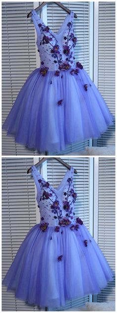 A-line Homecoming Dress, V-neck Short/Mini Prom Dress ,Juniors Homecoming Dresses