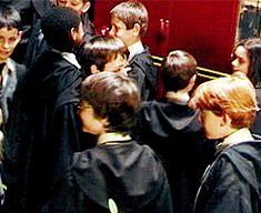 Tom Felton and Daniel Radcliffe (Emma's face is sooooo funny!) This makes me want to put Harry Potter everywhere! Harry Potter Jokes, Harry Potter Universal, Harry Potter Fandom, Harry Potter Characters, Harry Potter World, Drarry, Dramione, Tom Felton, Draco Malfoy