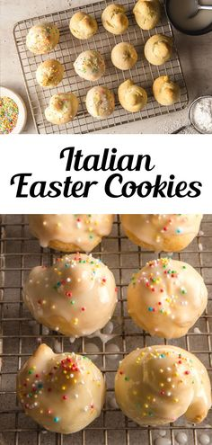 These Traditional Italian Easter Cookies (uncinetti) are made with a quick and easy dough, along with a simple lemon glaze to top these easy Easter Cookies. Fun to make and decorate with kids during spring! They're ready in less than 30 minutes and you only need a few pantry staples to whip up a batch! #eastercookies #Italiancookies Italian Foods, Italian Desserts, Italian Recipes, Creative Desserts, Easy Desserts, Delicious Desserts, Irish Recipes, Bar Recipes, Dessert Recipes