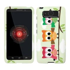 For Motorola Droid Mini XT1030 Triple Owl Verizon Case Cover Hard Case Snap-on Cases Rubberized Touch Protector Hard Shell Cover Faceplates