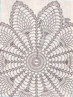 Ideas For Crochet Patrones Ganchillo - Diy Crafts - DIY & Crafts Motif Mandala Crochet, Crochet Butterfly Pattern, Free Crochet Doily Patterns, Crochet Doily Diagram, Crochet Designs, Crochet Sunflower, Pineapple Crochet, Crochet Flowers, Filet Crochet
