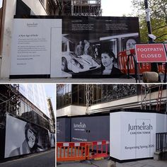Additional photos from this enormous printed hoarding for the hotel in London. Designed manufactured and installed. Large Format Printing, New Age, Creativity, Tower, Construction, London, Printed, Photos, Design