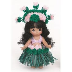 Precious Moments Dolls by The Doll Maker, Linda Rick, Makamae, Hawaii Children of the World, 9 inch doll Precious Moments Dolls, Hawaii Hula, Hula Dancers, Hula Girl, Vinyl Dolls, Dolls For Sale, Vinyl Fabric, Doll Maker, Collectible Figurines