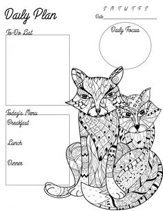 free adult coloring page printable planner for teachers