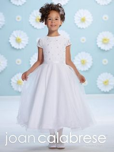 Joan Calabrese 116396 Lace Cap Sleeve Flower Girls Dress